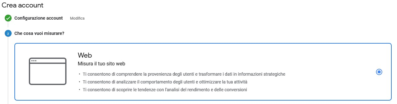 Configurazione Google Analytics